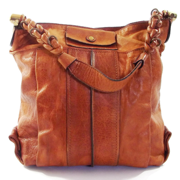 23a76395eb65 Chloe Handbags - Chloe Heloise Large Nutmeg Leather Hobo Bag Purse